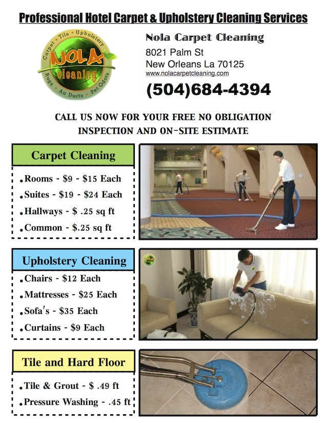 New Orleans Hotel and Motel Carpet Cleaning
